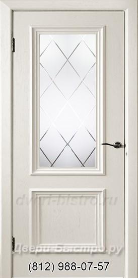 Межкомнатная дверь Шервуд ПО Эмаль слоновая кость